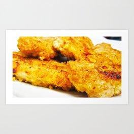 Homemade chicken nuggets Art Print