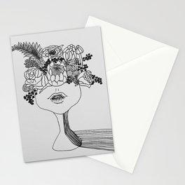 FLOWER POWER   Original illustration by Natalie Burnett's Art Stationery Cards
