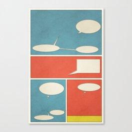 Empty Comic Canvas Print