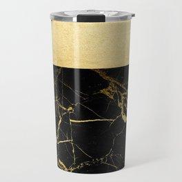 Gold and Black Marble Travel Mug