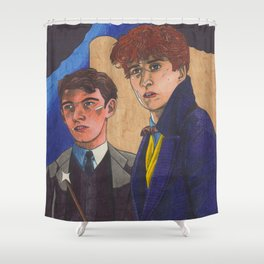 Wizard Brothers Shower Curtain