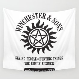 SUPERNATURAL WINCHESTER AND SONS Wall Tapestry