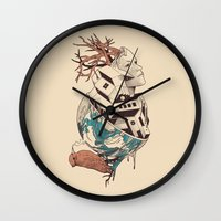 lost Wall Clocks featuring Lost by Norman Duenas