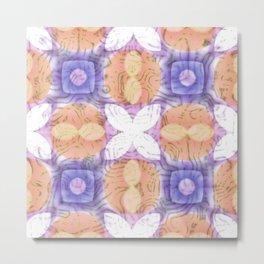 Modern Swirls Geometric Metal Print