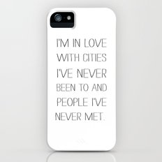 I'm in love with cities. Slim Case iPhone (5, 5s)