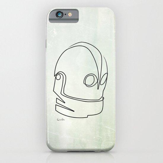 One line Iron Giant iPhone & iPod Case