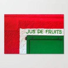 Jus de Fruits Canvas Print