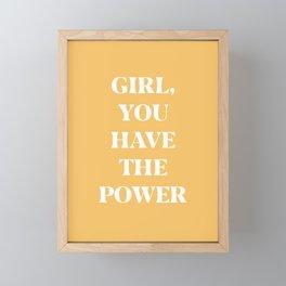 Girl Power Art Print Framed Mini Art Print