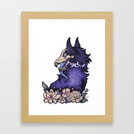 Blue wolf Framed Art Print