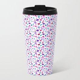 Confetti - White  Metal Travel Mug
