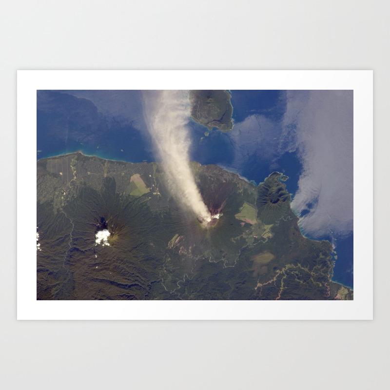 Volcano Eruption Art Print By Stonemonkey Society6