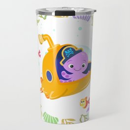 Under the sea with Captain Octo Travel Mug