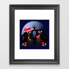 Cats in Love Framed Art Print