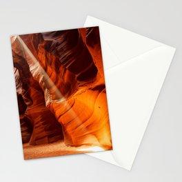 Beam Of Light Antelope Canyon Arizona Landscape Stationery Cards