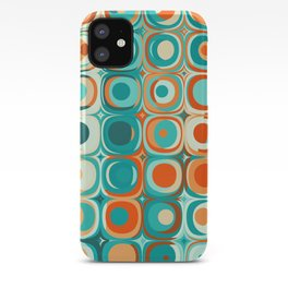 Orange and Turquoise Dots iPhone Case