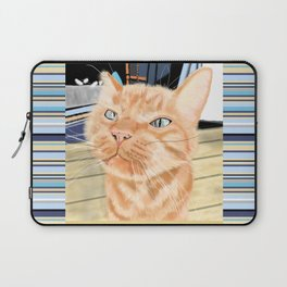 Oliver the Sniffy Red Tabby Cat Laptop Sleeve