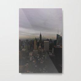 New York Gloomberg Metal Print