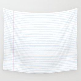 Fun Geeky Writers Gift: College Ruled Rules Pattern Wall Tapestry