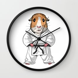 Guinea Pig Karate Wall Clock