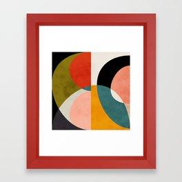 geometry shapes 3 Framed Art Print