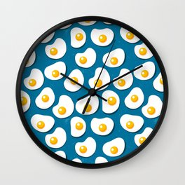 Fried eggs food pattern Wall Clock
