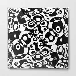 Chaos in black and white Metal Print