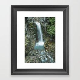 Waterfall on Mt. Rainier Framed Art Print