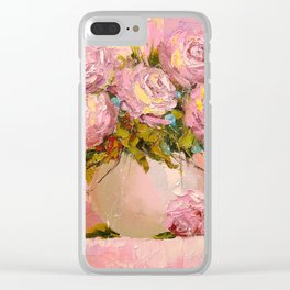 A bouquet of delicate roses Clear iPhone Case