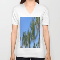 palms V-neck T-shirts featuring PALMS by ....