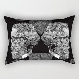 hipster floral skull 2 Rectangular Pillow