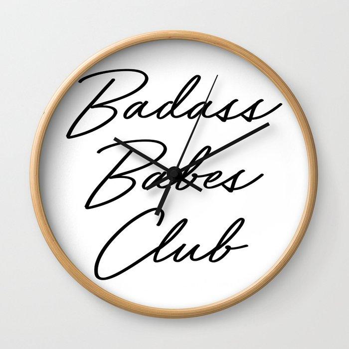 Badass Babes Club 2 Wall Clock