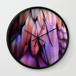 PARROT FEATHERS RAINBOW Wall Clock