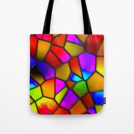 clown stained glass Tote Bag