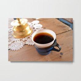 Kaffe på Johannes' Metal Print
