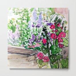 Public flower garden - Charlestown Metal Print