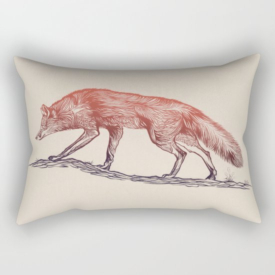 Hunting Fox Rectangular Pillow