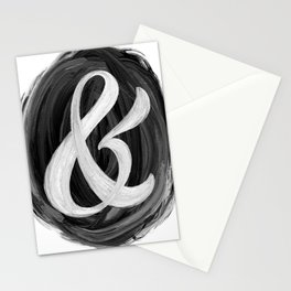Thick Swirl Ampersand Black & White Stationery Cards