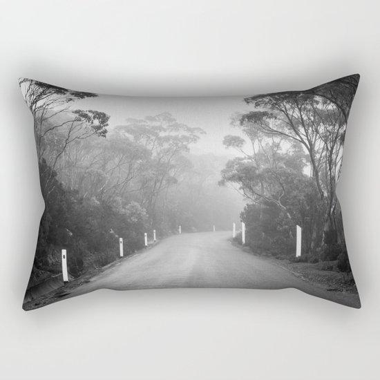 Mount Wellington Misty Road Rectangular Pillow
