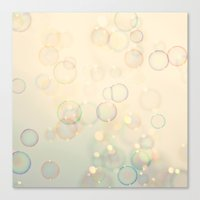 bubbles Canvas Prints featuring Bubbles  by Laura Ruth