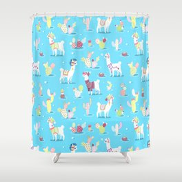 Alpaca Pattern Shower Curtain