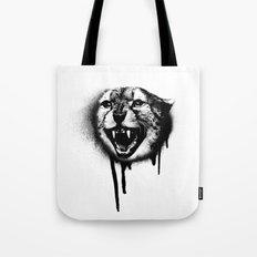 Cheetah Spray Paint Tote Bag