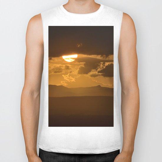 The sun after the storm Biker Tank