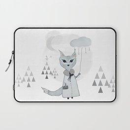 Lili Moon Winterland // Little black lines Laptop Sleeve