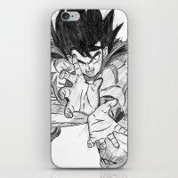 goku iPhone & iPod Skins featuring Goku by DeMoose_Art