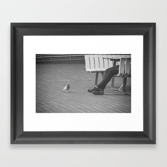 pigeon toes... Framed Art Print