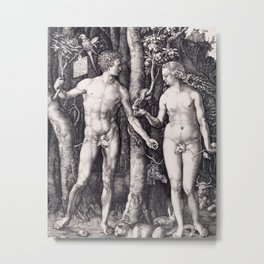 Adam and Eve by Albrecht Dürer Metal Print