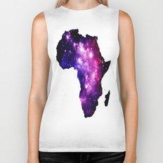 Africa : purple pink fuchsia galaxy Biker Tank