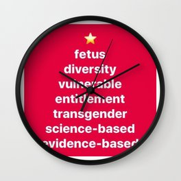 Banned Words for the Holiday Season Wall Clock