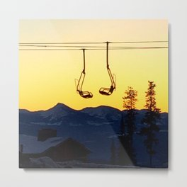 Big White Sunrise Metal Print