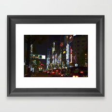 Tokyo Lights Framed Art Print